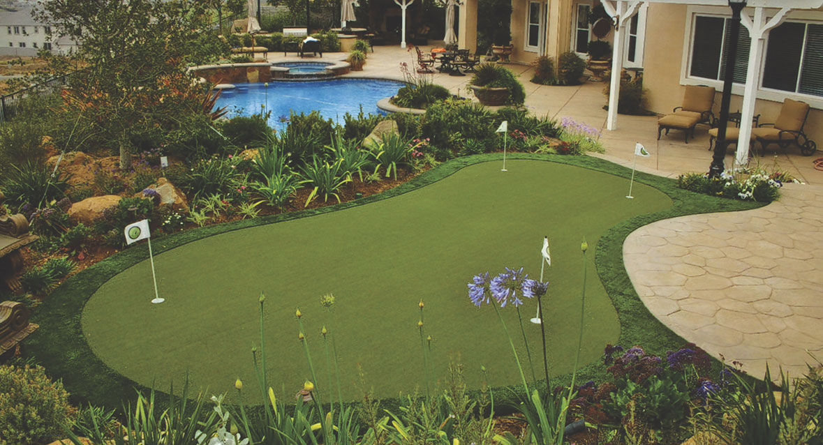Backyard Home Putting Greens by Sport Court